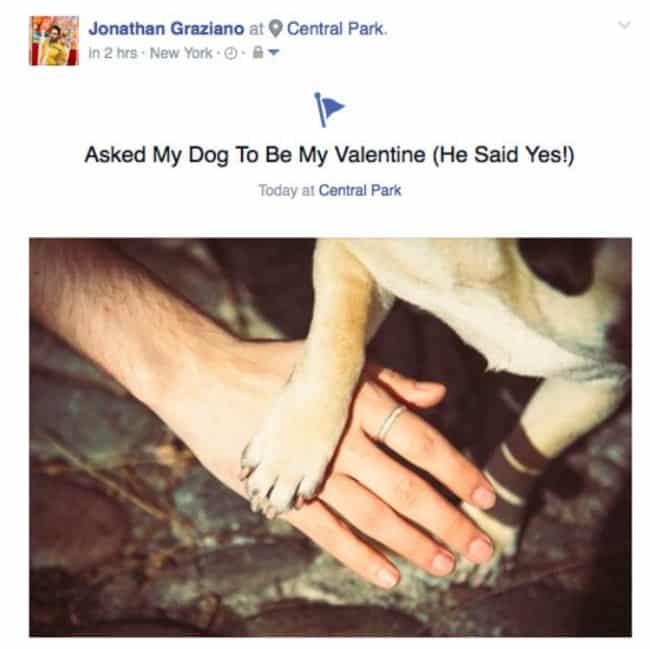 Il passe la saint-Valentin avec son chien