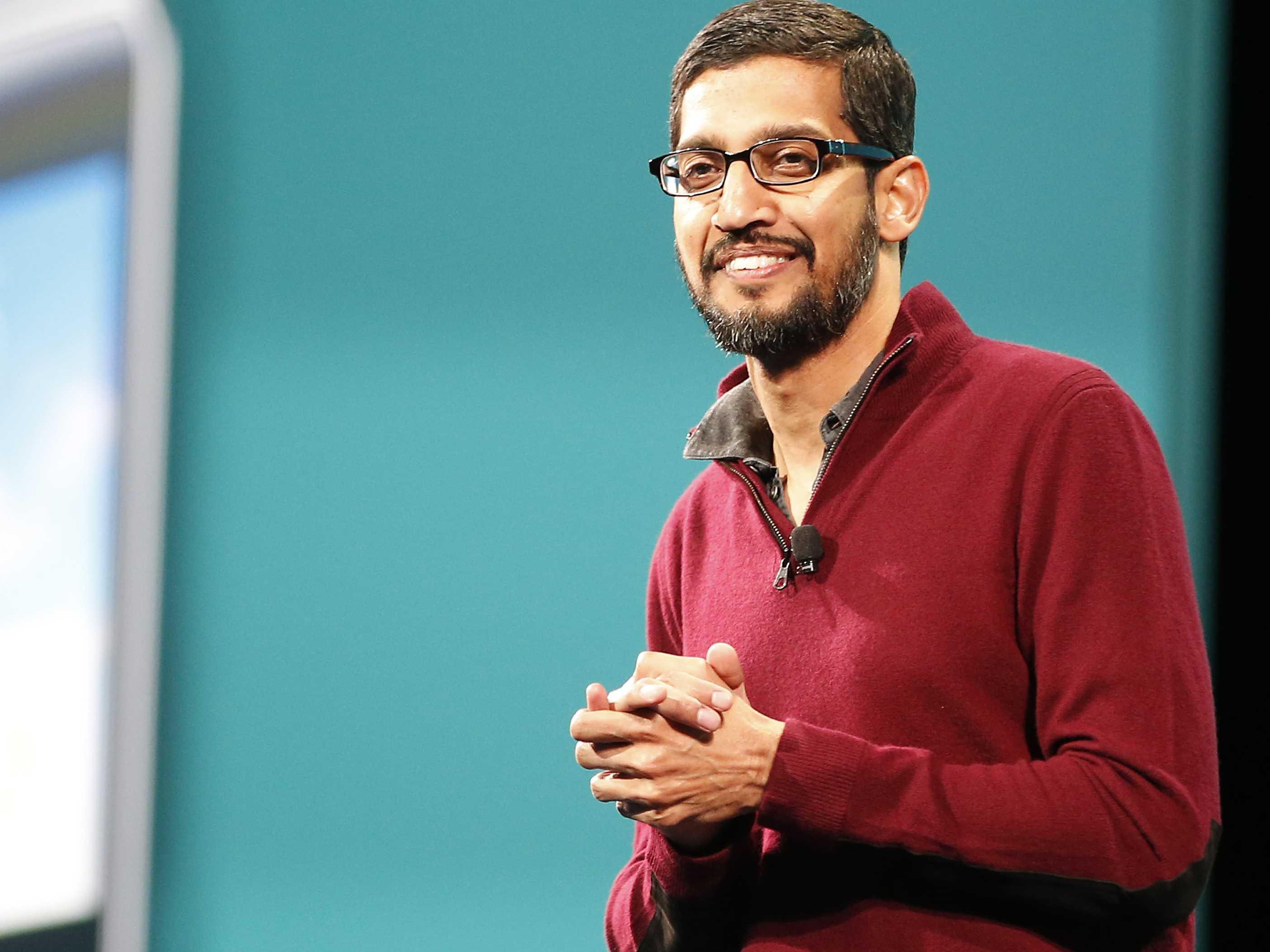 Sundar Pichai devenu le 10 août 2015 le PDG de Google