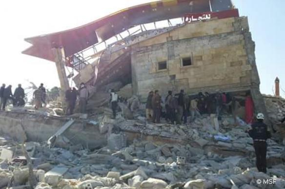Un hôpital soutenu par MSF bombardé dans le nord de la Syrie