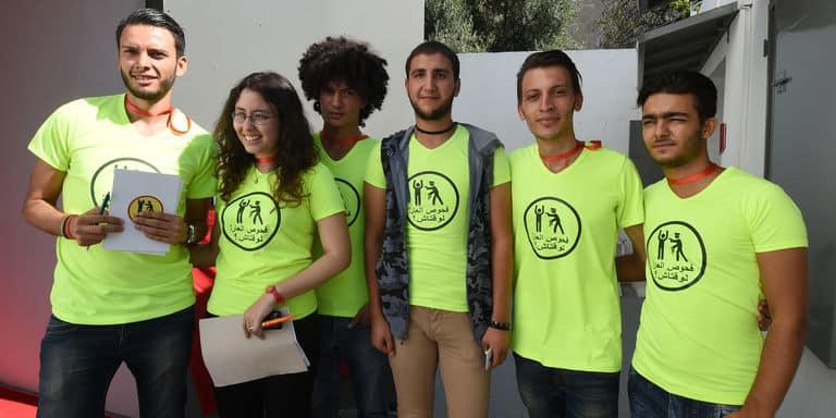 Des membres de l'association Shams. Photo AFP