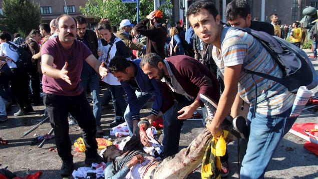 Ankara a aussi été frappée le 10 octobre 2015 par un autre attentat