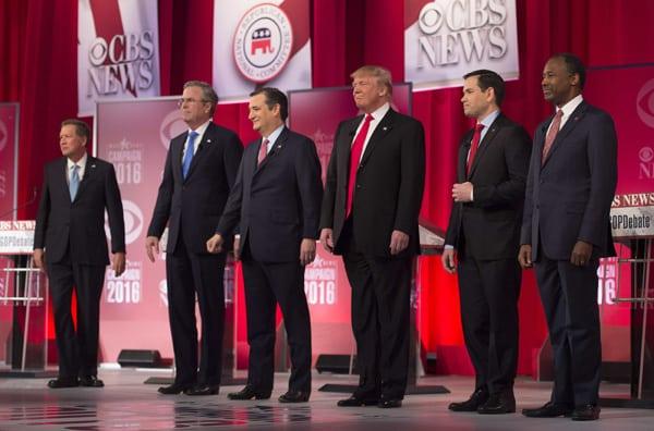lors du débat républicain organisé samedi à Greenville, en Caroline du Sud. Photo AFP
