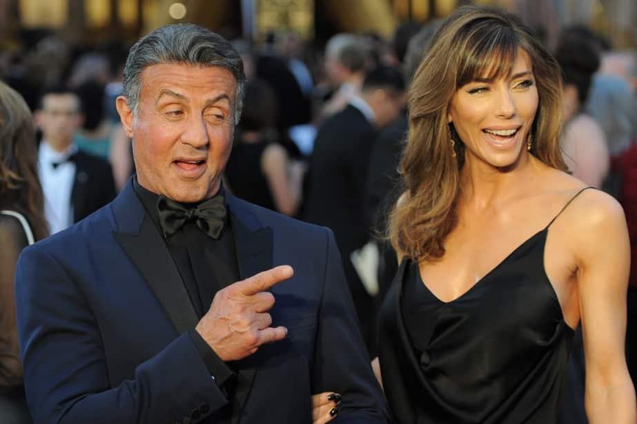 Sylvester Stallone et sa femme Jennifer Flavin lors de la 88e cérémonie des Oscars