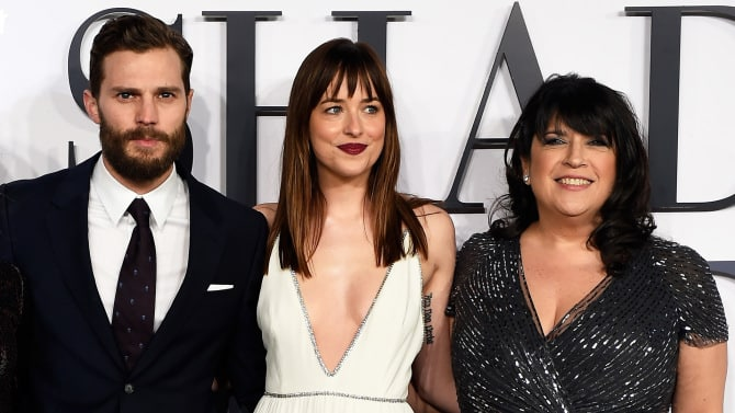 Jamie Dronan, Dakota Johnson et E.L. James