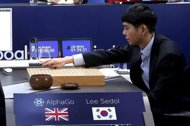 Le champion mondial du go, Lee Se-Dol, lors de son affrontement avec Google AlphaGo.