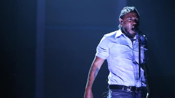 Kendrick Lamar aux Grammy Awards 2016