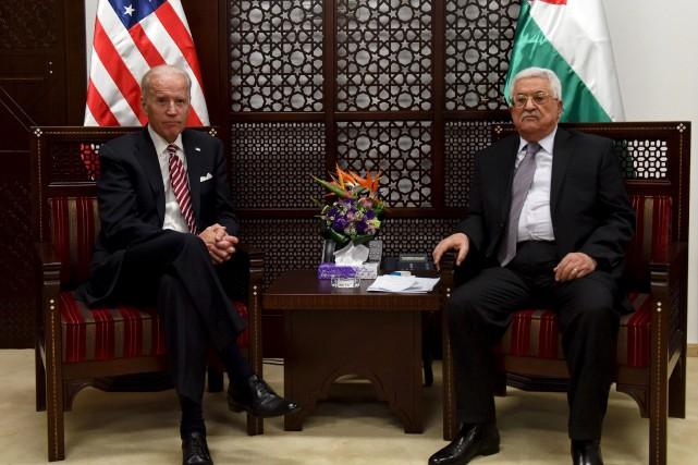 Le vice-président américain Joe Biden a rencontré en soirée mercredi le président palestinien Mahmoud Abbas à Ramallah, en Cisjordanie occupée.