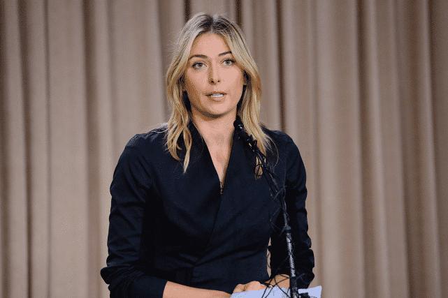 Maria Sharapova lundi lors d'une conférence de presse à Los Angeles.