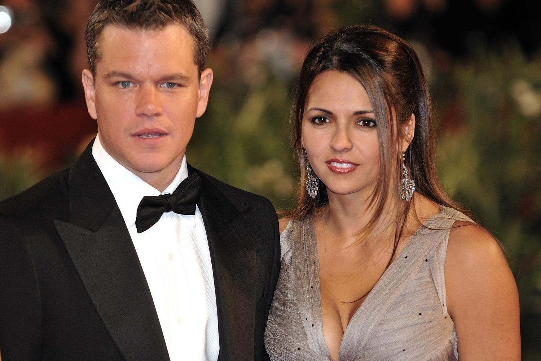 Matt Damon et Luciana Bozan Barroso