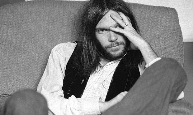 Neil Young lorsqu'il était jeune