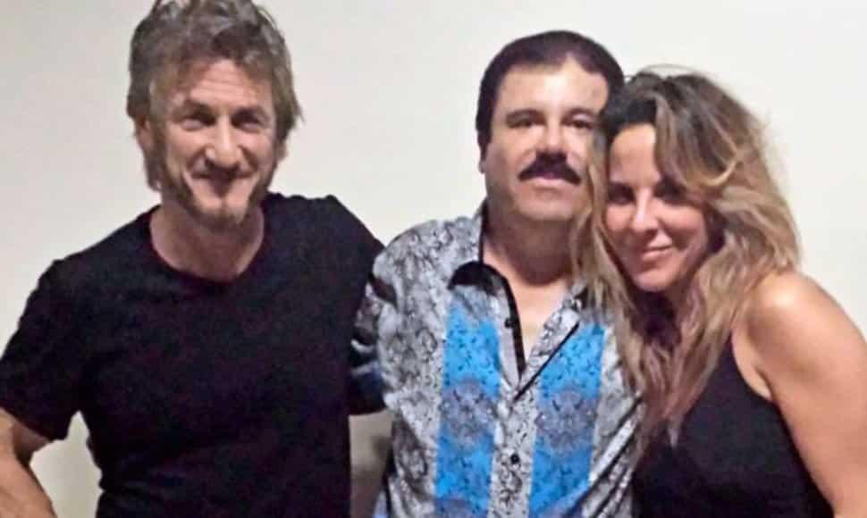 Sean Penn, Joaquín Guzmán y Kate del Castillo. FOTO THE NEW YORKER