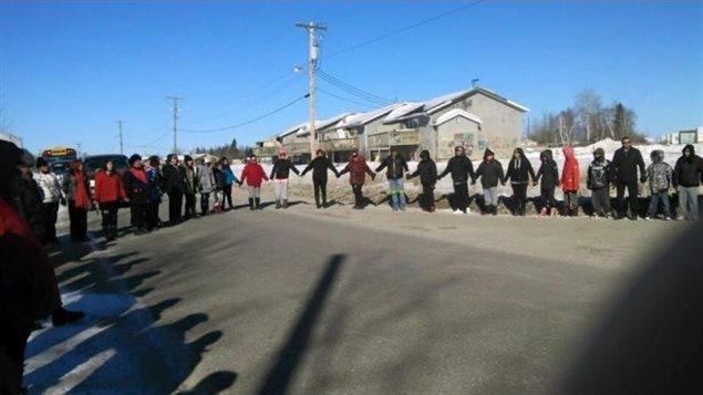 Une marche pour la prévention du suicide organisée par la Première Nation Pimicikamak