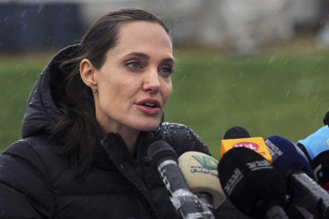 L'actrice américaine Angelina Jolie a appelé mardi au Liban les dirigeants à prendre leurs responsabilités. Photo AP