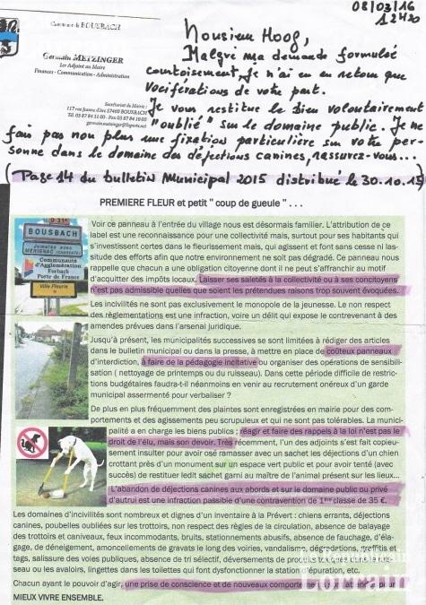 Capture de la lettre envoyée à l'administré. Photo du Républicain Lorrain