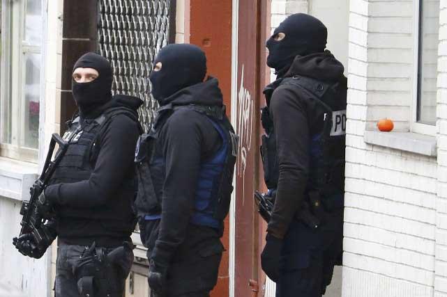 La rue où s'est produite la fusillade, la rue du Dries à Forest - Photo AFP