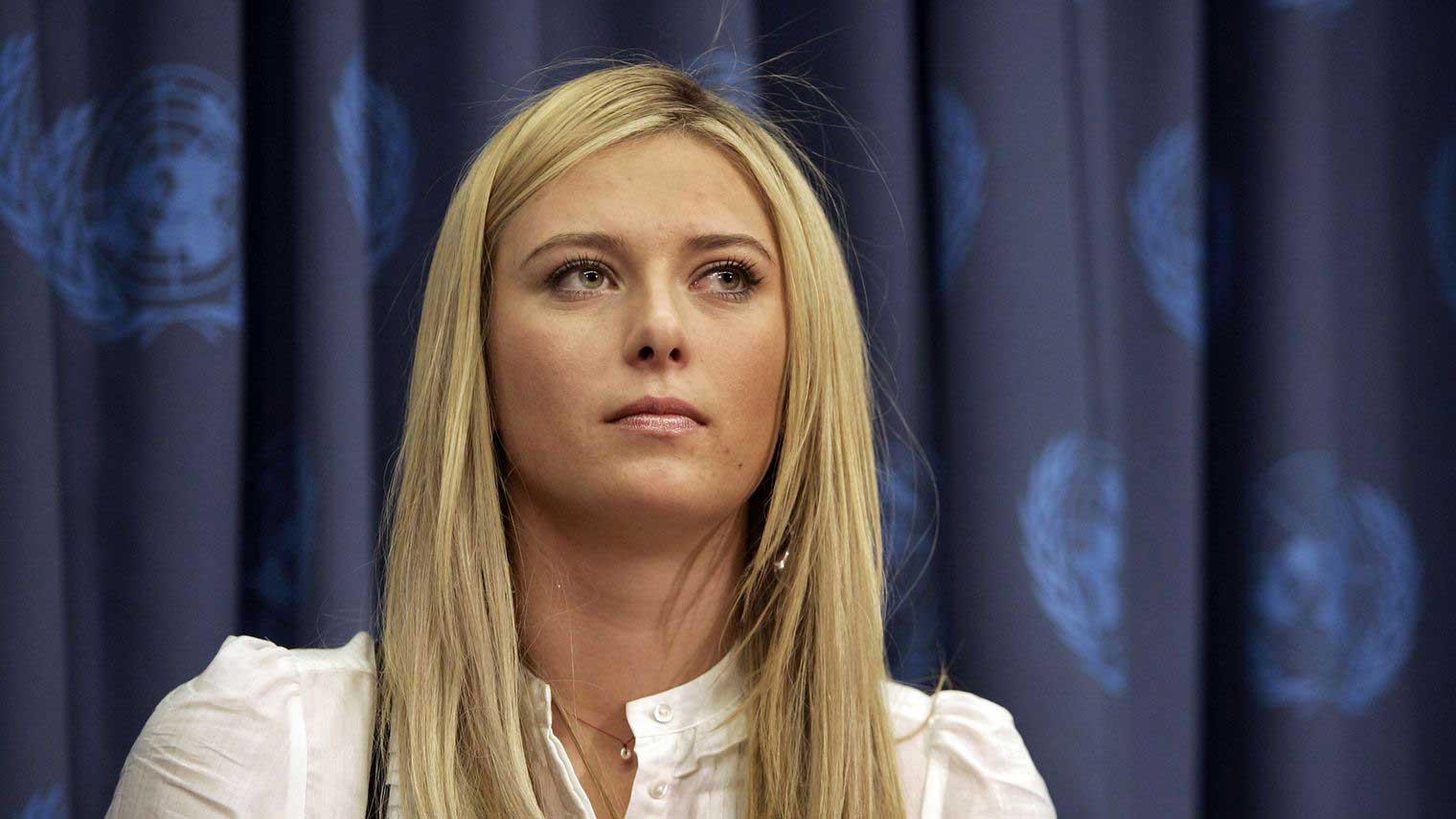 La joueuse de tennis russe Maria Sharapova au siège de l'ONU, le 14 février 2007