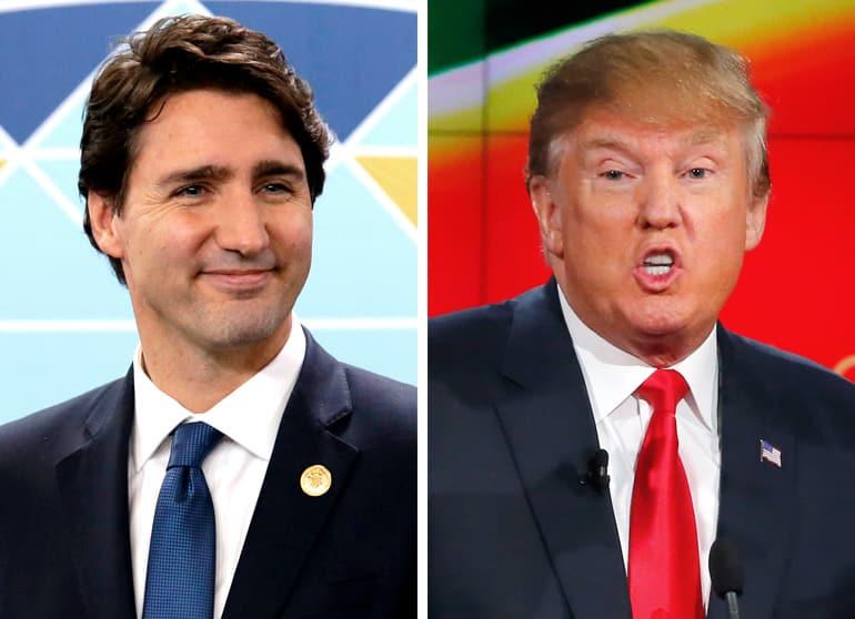 Justin Trudeau et Donald Trump - photo Reuters
