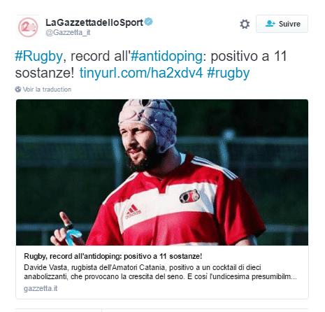 tweet sport dopage