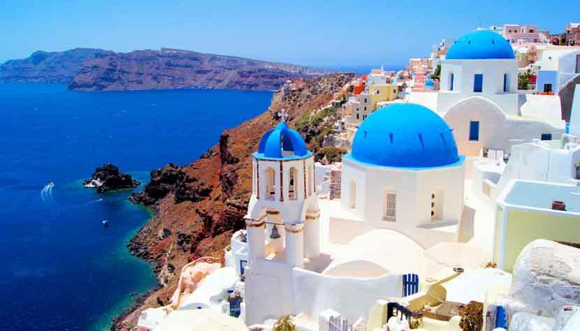 Santorin,-Grèce