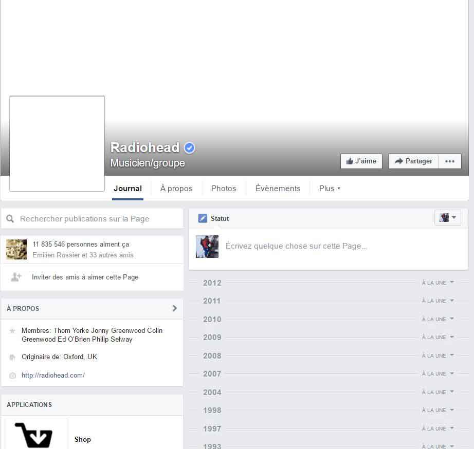 Radiohead-facebook
