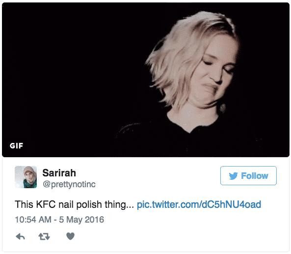 tweet KFC 2