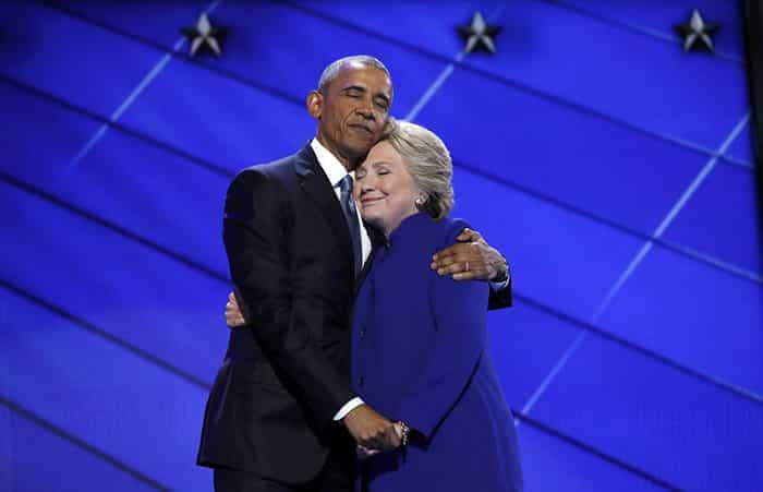 Hillary Clinton et Obama