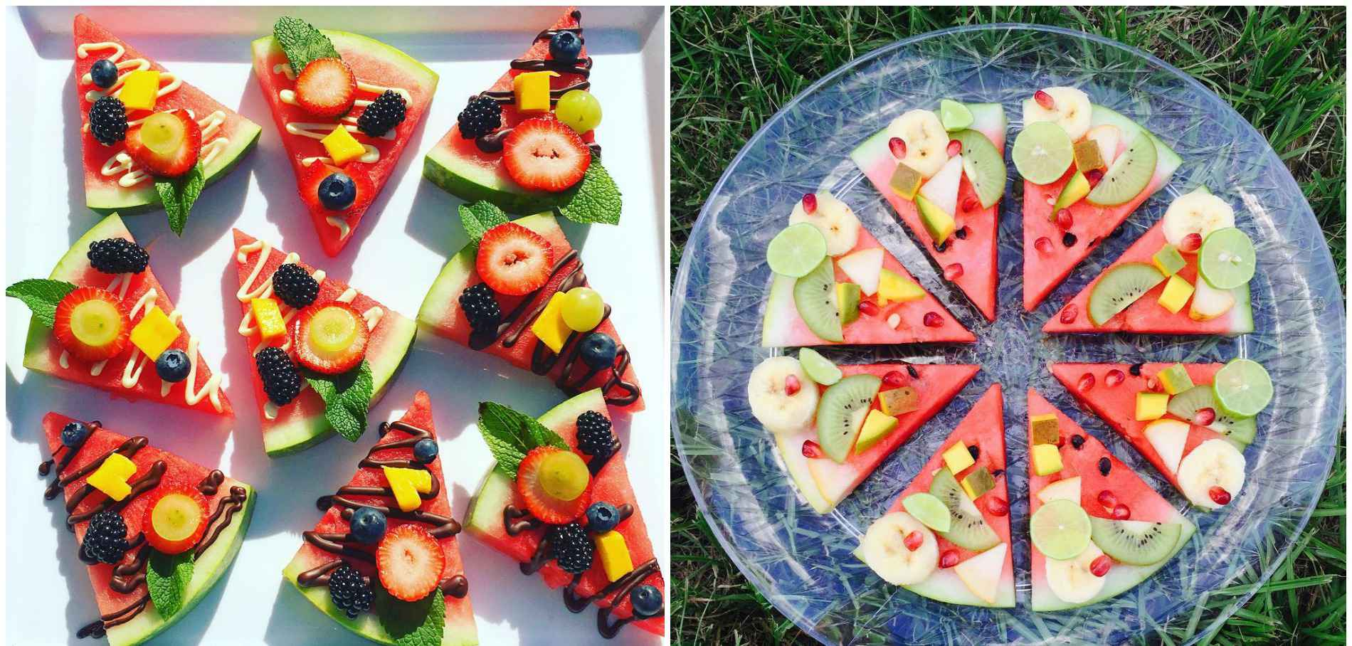 pizza fruits
