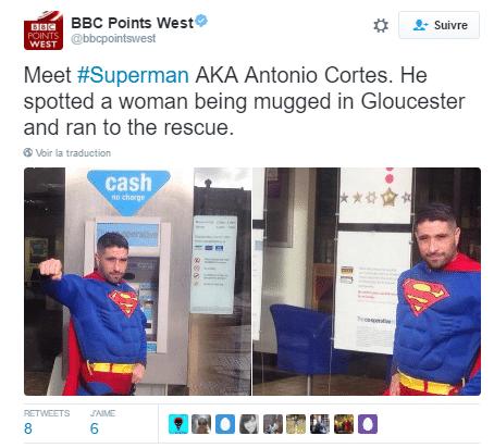 tweet superman deguise