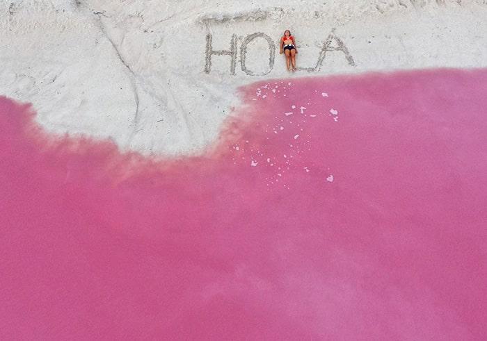 Mexico's pink lagoon 10