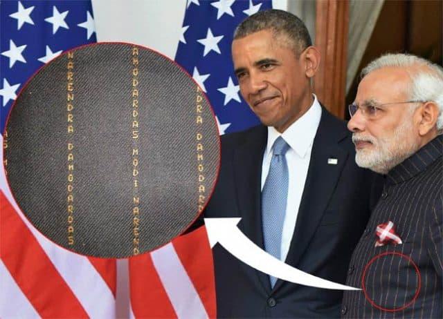 Narendra Modi portant son fameux costume