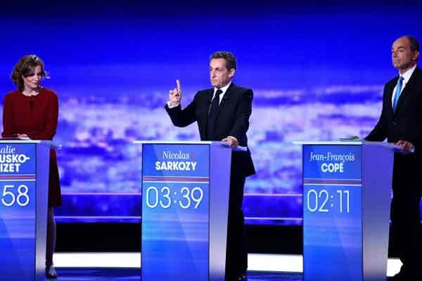 Nicolas Sarkozy ciblé lors du premier débat télévisé