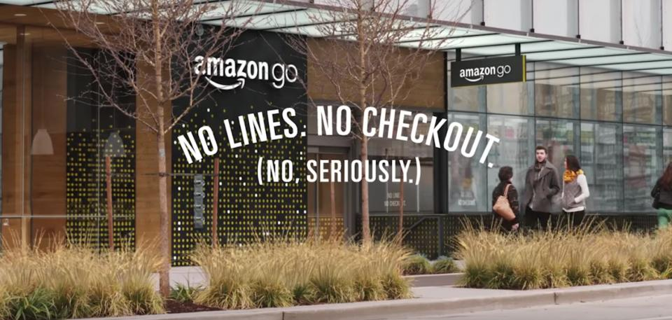 La devanture du premier supermarché Amazon Go à Seattle - Amazon