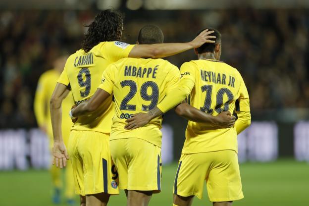 Football - Football - Le trio Cavani-Mbappé-Neymar a coûté 466 M€ au PSG. (R. Martin/L'Equipe)