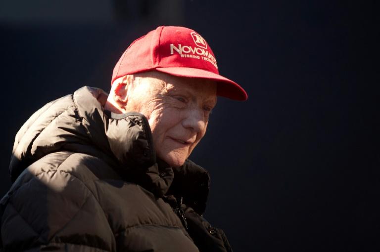 L'ancien pilote de F1 autrichien Niki Lauda, le 1er février 2015 à Jerez (Espagne)