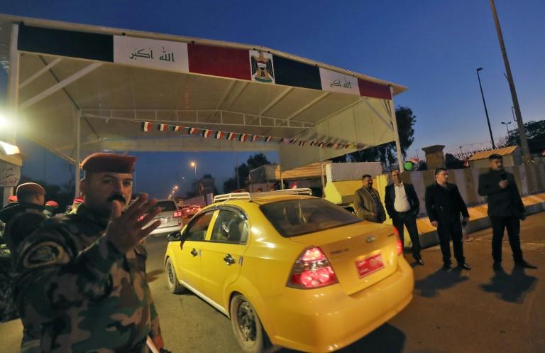 Contrôle de sécurité dans la Zone verte ultrasécurisée de Bagdad le 10 décembre 2018