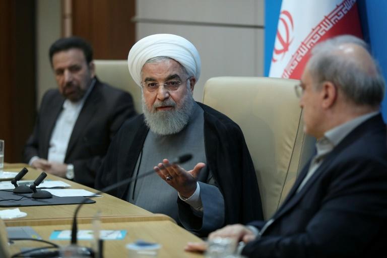 Photo obtenue auprès de la présidence iranienne montrant le président Hassan Rohani lors d'une réunion à Téhéran le 25 juin 2019