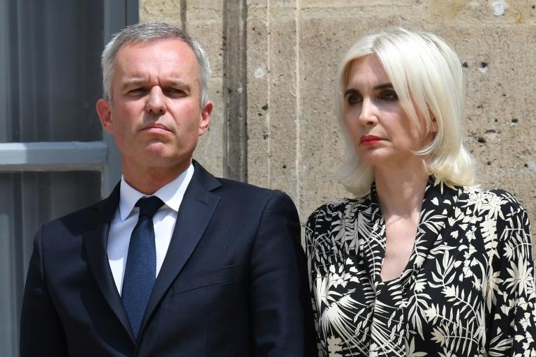 François de Rugy et son épouse le 17 juillet 2019 à Paris