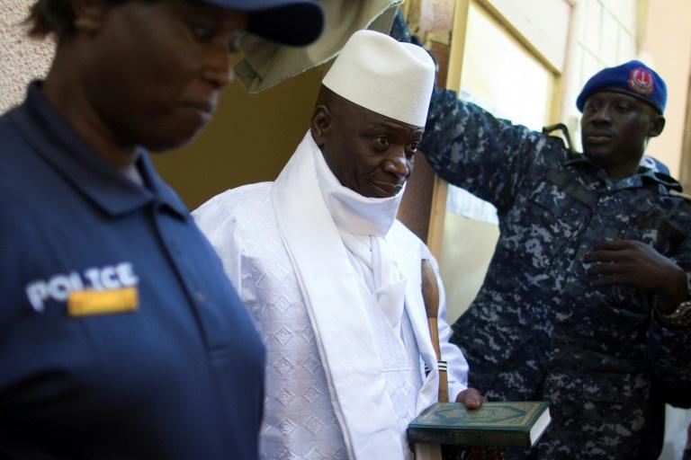 Yahya Jammeh lors des élections présidentielles en Gambie, le 1er décembre 2016
