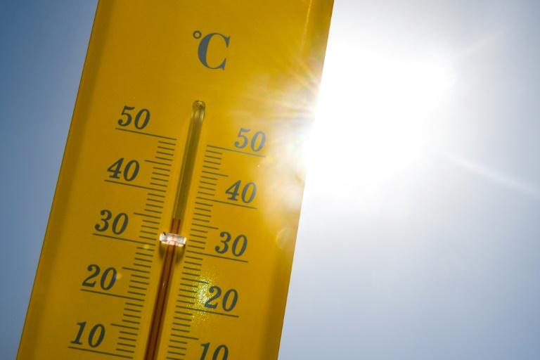 Presque 40° sur ce thermomètre, à Rennes, le 27 juin 2019
