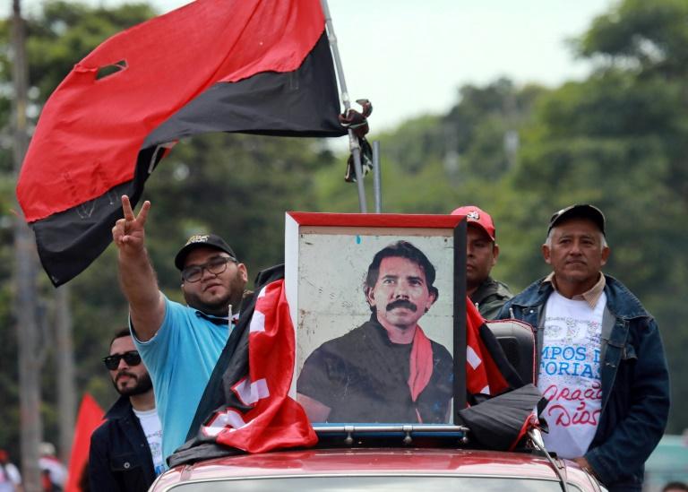 Des partisans du président du Nicaragua Daniel Ortega à Managua le 6 juillet 2019