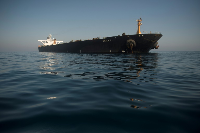 Le pétrolier Grace 1 au large de Gibraltar le 15 août 2019
