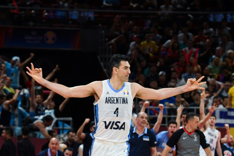L'Argentin Luis Scola lors du match contre la France en demi-finales du Mondial de basket, le 13 septembre 2019 à Pékin