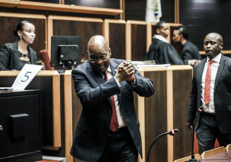 L'ex-président Jacob Zuma à la Haute cour de Pietermaritzburg le 11 octobre 2019 qui doit le juger pour corruption