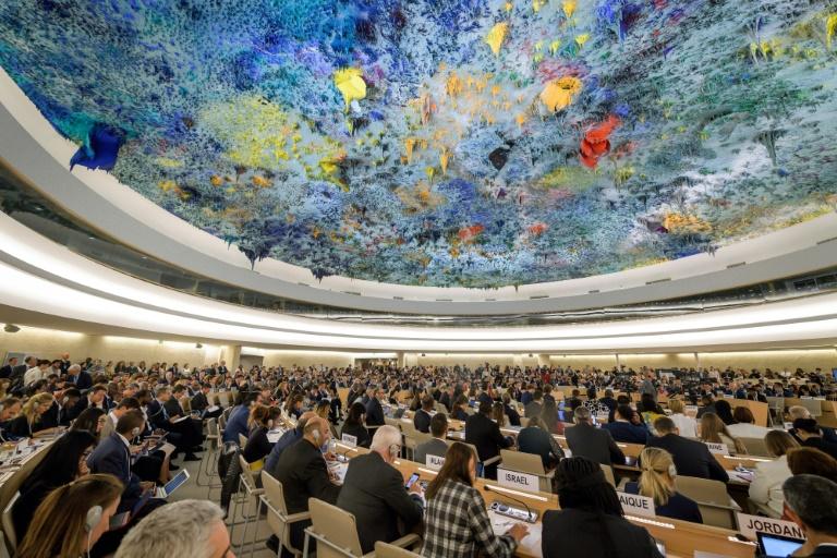 Des délégués participent à l'ouverture de la 42e session du Conseil des droits de l'Homme à Genève, le 9 septembre 2019