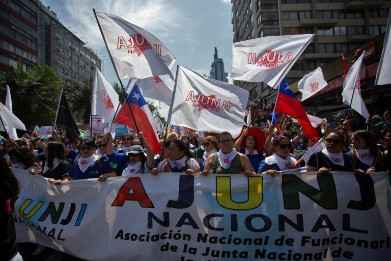 Manifestation contre le gouvernement, le 12 novembre 2019 à Santiago du Chili