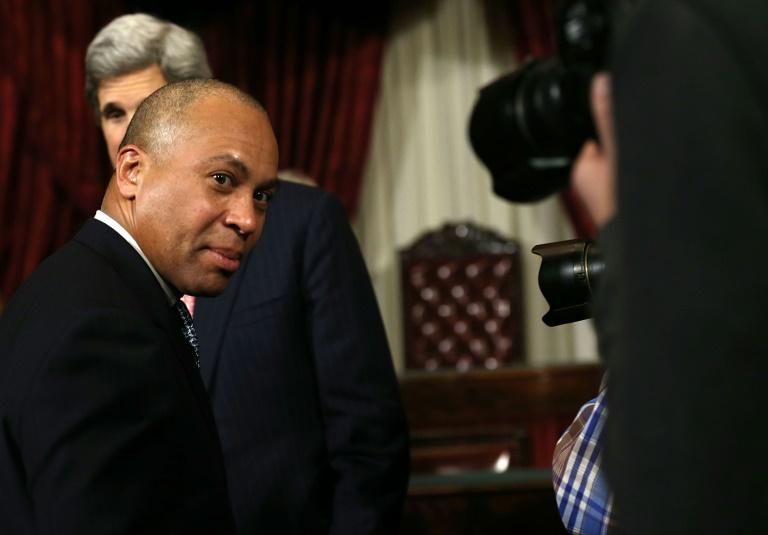 L'ex-gouverneur du Massachusetts Deval Patrick lors d'une visite à Washington le 7 février 2013
