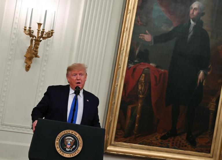 Le président américain Donald Trump à la Maison Blanche à Washington le 21 novembre 2019