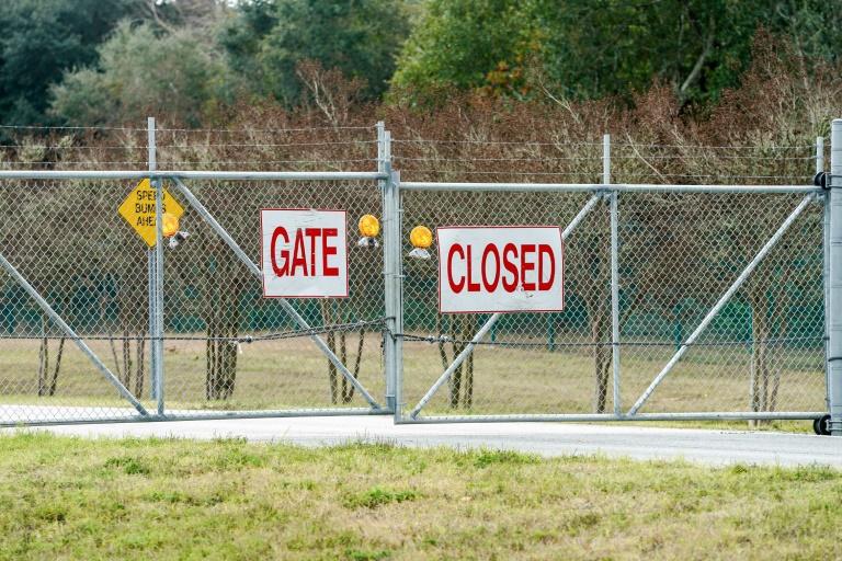 La base aéronavale de Pensacola, dans le nord-ouest de la Floride, a été placée en état de confinement pendant la fusillade, le 6 décembre 2019