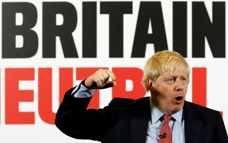 Le Premier ministre Britanniqueen campagne à Detling le 6 décembre 2019