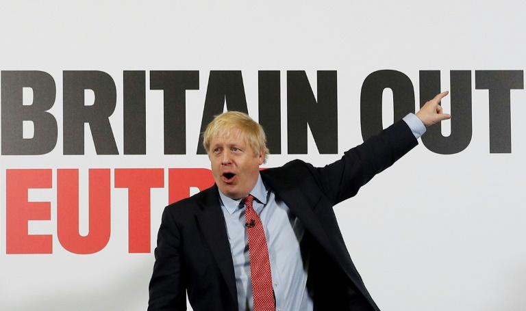Le Premier ministre britannique Boris Johnson en campagne à Detling, dans le sud-est de l'Angleterre, le 6 décembre 2019